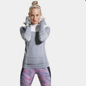 Athleta Stripe Fastest Track Hoodie Small Pullover